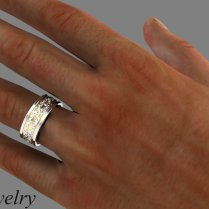 8mm Wide Gold Band Wide Mens Wedding Ring Plain Jane Wedding Band