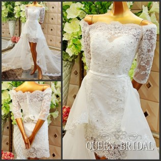 Aliexpress Com Buy A Line Short Wedding Dress With Removable