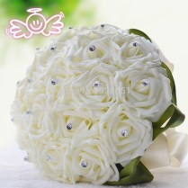 Aliexpress Com Buy Cream Wedding Flowers Bridal Bouquets White