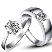 Aliexpress Com Buy Lovely Design Certified Moissanite Pair Rings