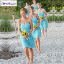 Aliexpress Com Buy Summer Wedding Guest Dress Light Blue A Line