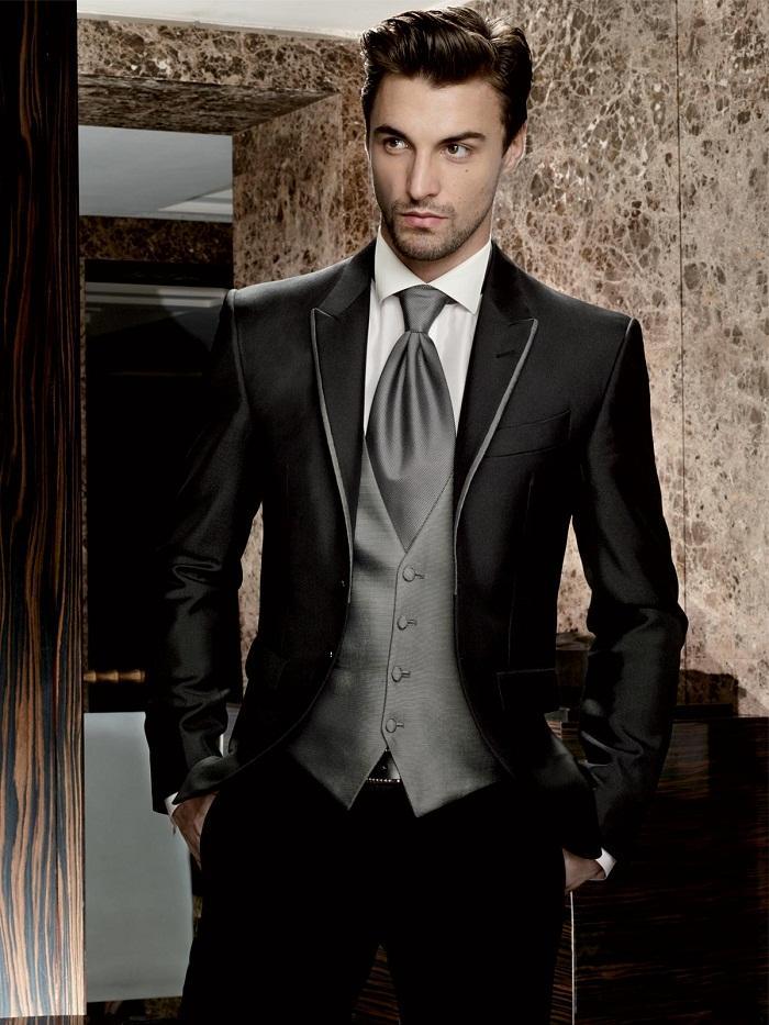 All Black Wedding Suit Dress Yy