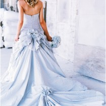 Baby Blue Wedding Gown