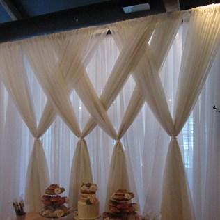 Backdrop Wedding Draping Design