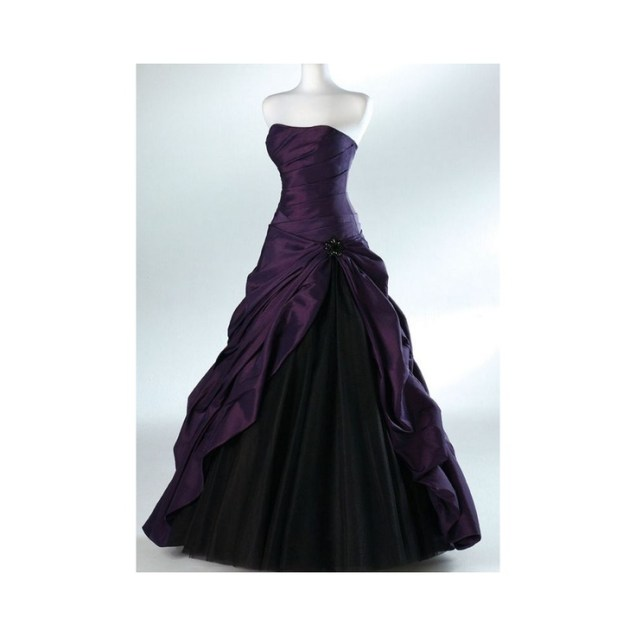 Black And Purple Gothic Wedding Dress