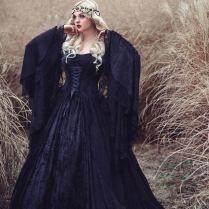 Black Gothic Gwendolyn Medieval Gown