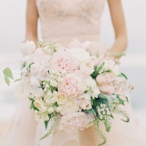 Blush Pink With Brooch Wedding Bouquet Archives