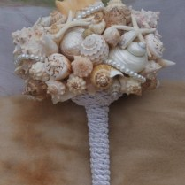 Bouquet Boutonniere Set Bridesmaid Seashell Bouquet Beach Bouq