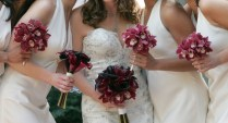 Bouquet Bridal Red Orchids And Calla Lilies Bouquet