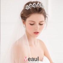 Branch Shape Bridal Rhinestone Tiara Flower Headdress Wedding