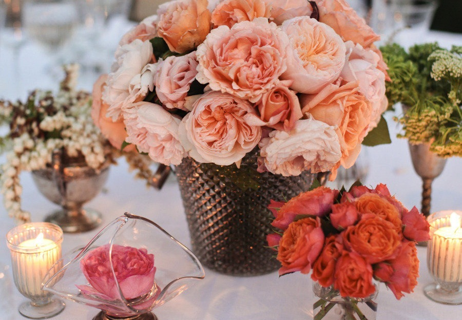 Coral Centerpieces Wedding
