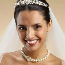 Brushed Gold And Champagne Bridal Tiara, House Of Jon Lei Atelier