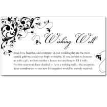 Budget Wedding Invitations Wishing Well Cards Black Flourish