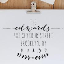 Calligraphy Address Stamp, Return Address Stamp, Personalized