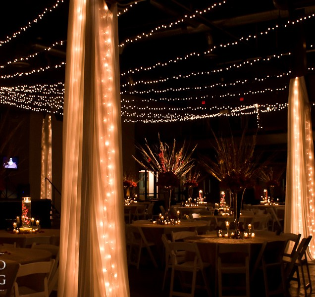 Ceiling And Wall Draping For Weddings