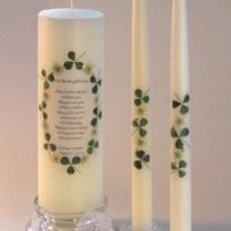 Celtic Attic Wedding Candles, Claddagh Unity, Altar Candles