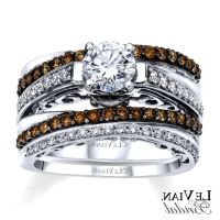 Chocolate Diamond Wedding Ring Set