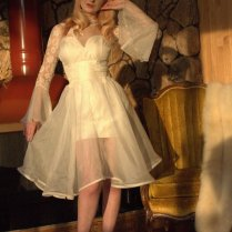 Custom Couture 60s Style Vegas Wedding Dress With By Daintyrascal