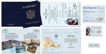 Custom Passport Invitation Cards