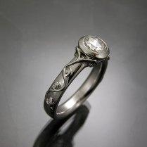 Custom White Gold Wedding Rings