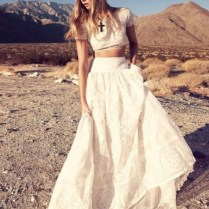 Dare To Bare Crop Top Wedding Gowns Are Making Their Way Down The