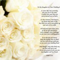 Daughter Wedding Poem