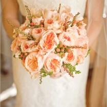David Bridal Wedding Shoes Peach Wedding Bouquet