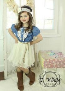 Denim Toddler Girls Tutu Dress, Vintage Dress, Rustic Flower Girl
