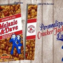 Digital Cracker Jack Label Wedding Favor Birthday By Bowersink