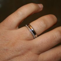 Flat Wedding Bands Show Me The Bling! (rings,earrings,jewelry