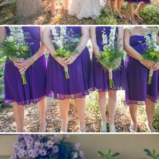 Flirty Purple Summer Garden Wedding In California
