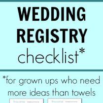 Free Printable Wedding Registry Checklist