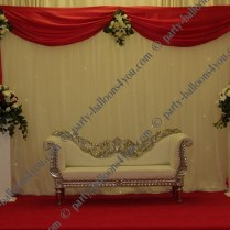 Fresh Flowers Wedding Stage