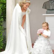 Fur Trimmed Wedding Dresses