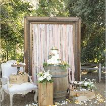 Gallery Chic Rustic Wedding Cake Table Ideas