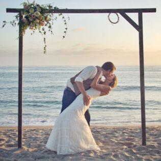 Gallery Simple Beach Wedding Arch