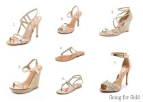 Going For Gold Wedding Shoes