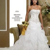 Gorgeous Ball Gown Strapless Satin Wedding Dress Mlwk13181 $665 00
