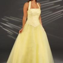 Halter Neck Yellow Wedding Dress [1n3okyv1]