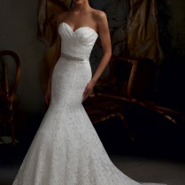 Image Of Trumpet Style Wedding Dress Lace Trumpet Wedding Gown
