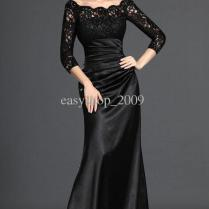 Images Of Black Long Dress With Sleeves