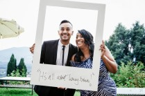 Innocenti Wedding Photographer Tuscany Giant Polaroid Photo Booth