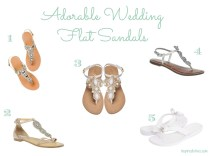 Inspired I Dos Adorable Wedding Flat Sandals