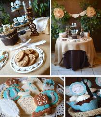 Kara's Party Ideas Shabby Chic Western Wedding Bridal Shower Ideas