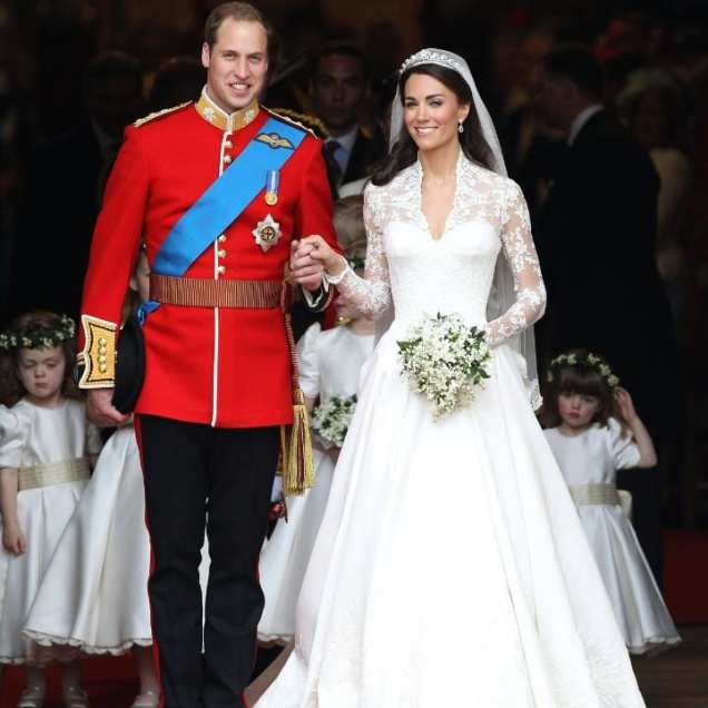Kate Middleton's Wedding Dress In Pictures