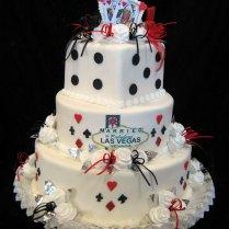 Las Vegas Themed Wedding Cakes