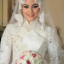 Latest Bridal Hijab Dresses Designs & Styles 2016