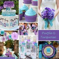 Lavender And Teal Wedding Gallery