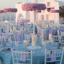 Lavender Wedding In Santorini