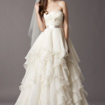 Layered Skirt Wedding Dress